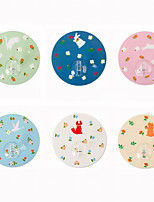 Multipurpose Round Animals Pattern PET/SEBS/PS Magic Sticker Hooks 1PC