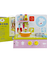 Pretend Play Toy Kitchen Sets Square Wood Children's