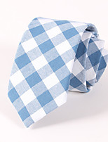 Men's Casual Fashion Personality Lattice Cotton Tie