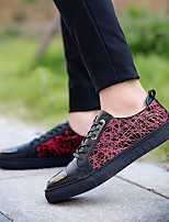 Men's Sneakers Comfort Real Leather Tulle Spring Fall Casual Comfort Yellow Ruby Blue Flat