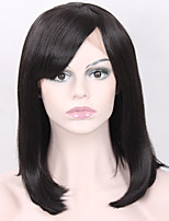 Fashion Natural Straight Black Wig Short Bob Wigs with Bangs for Women Heat Resistant Synthetic Wigs Glueless Best Quality Lace Front Wigs