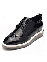 Women's Sneakers Creepers Comfort Pigskin Leather Spring Casual Red Black Flat