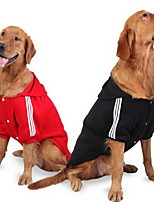 Dog Shirt / T-Shirt Dog Clothes Casual/Daily Solid Ruby Black