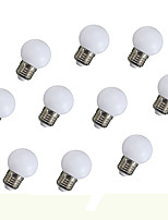 0.5W Lâmpada Redonda LED 6 135 lm Laranja V 10 pçs