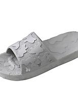 Men's Slippers & Flip-Flops Comfort PVC Spring Casual Blue Gray Black Flat