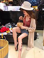 Blazer Robes Costumes Femme,Couleur Pleine Sortie simple Printemps, Août, Hiver, Eté
