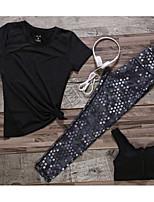 Жен. Бег Наборы одежды/Костюмы Лето Плавание Хлопок Тонкие Одежда для спорта и отдыха