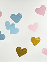 3m Round Heart Shape Paper Garland String Circle Wedding Party Baby Shower Hanging Decoration New Creative Room