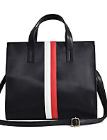 Women Shoulder Bag PU Nylon All Seasons Business Casual School Date Club Square Magnetic Red Black White