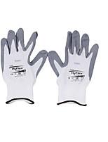 Gants de nylon blanc revêtu à la main Ansell -9/1 paires
