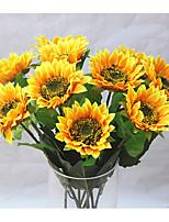 1 Une succursale Soie Tournesols Fleur de Table Fleurs artificielles
