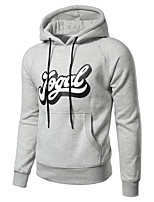 Men's Casual/Daily Sports Hoodie Letter Hooded Inelastic Polyester Long Sleeve Summer Fall