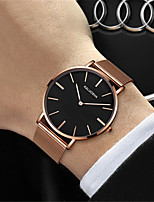 Men's Fashion Watch Quartz Water Resistant / Water Proof Alloy Band Sparkle Black Silver Gold