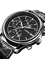 Men's Fashion Watch Mechanical Watch Automatic self-winding Water Resistant / Water Proof Leather Band Black Brown