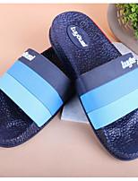 Herren Slippers & Flip-Flops Komfort PU Frühling Normal Komfort Marinenblau Rot Flach