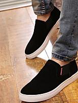 Men's Sneakers Comfort Nubuck leather Spring Casual Black Gray Brown Flat
