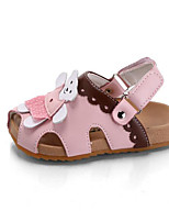Girls' Flats First Walkers Leatherette Spring Fall Casual Walking First Walkers Magic Tape Low Heel Blushing Pink White Flat