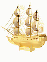 Puzzles Puzzles 3D Blocs de Construction Jouets DIY  Bateau Acier inoxydable Maquette & Jeu de Construction