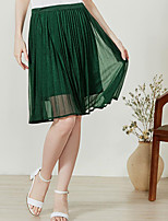 I BELIEVE YOUWomen's Casual/Daily Knee-length Skirts Pencil Solid Summer