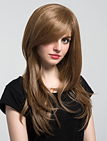New Style Natural Partial Fringe Long Wavy Hair Synthetic Wig For Woman