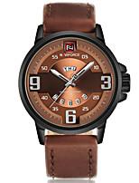 NAVIFORCE Masculino Relógio Esportivo Relógio Militar Relógio de Moda Relógio de Pulso Relógio Casual Japanês QuartzoCalendário Mostrador