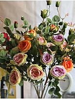 1 Une succursale Soie Roses Arbre de Noël Fleurs artificielles