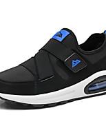 Men's Athletic Shoes Comfort PU Spring Fall Athletic Outdoor Walking Comfort Hook & Loop Flat Heel Black Black/White Black/Red Royal Blue