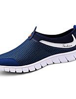 Masculino Tênis Conforto Malha Respirável Tule Primavera Casual Cinzento Azul Rasteiro