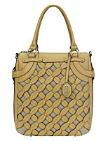 Kate&Co. fashion design woven leather handbag TH-02210 hollow carved French romantic yellow goose