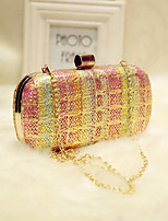Women Evening Bag PU All Seasons Event/Party Party & Evening Club Baguette Magnetic Rainbow