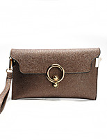 Women Wristlet PU All Seasons Formal Casual Wedding Outdoor Office & Career Professioanl Use Envelope Clasp LockPinky Wine Sliver Brown