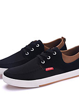 Men's Sneakers Comfort Canvas Spring Casual Black Gray Blue Flat