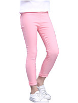 Girls' Solid Color Jeans-Cotton Summer All Seasons