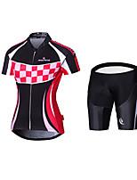 Maillot de Ciclismo con Shorts Bib BicicletaCamiseta/Maillot Pantalones Cortos Acolchados Maillot + Pantalones Cortos/Maillot+Culotte