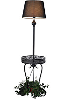 Floor Lamp  Rustic/Lodge Novelty Black White Color with Painting Use On/Off Switch Without Potted Plant
