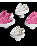 4Piece/Set Tulip Mold For Cake For Cookie Plastics Baking Tool Creative Kitchen Gadget