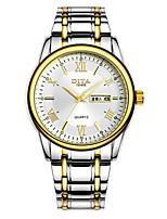 Муж. Модные часы Кварцевый Календарь Защита от влаги сплав Группа Серебристый металл Золотистый