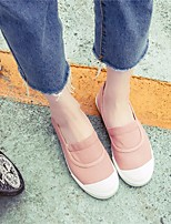 Damen Loafers & Slip-Ons Komfort Leinwand Sommer Normal Komfort Weiß Schwarz Rosa Flach