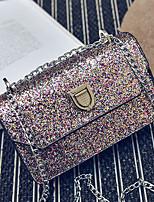 Women Shoulder Bag PU Nylon All Seasons Wedding Birthday Casual Date Rectangle Magnetic Blushing Pink Silver Black Gold