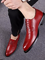 Men's Oxfords Formal Shoes Comfort Real Leather Tulle Summer Office & Career Formal Shoes Comfort Khaki Ruby Black Flat