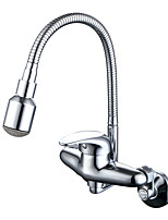 Traditional Modern Pot Filler Standard Spout CentersetCeramic ValveChrome , Kitchen faucet