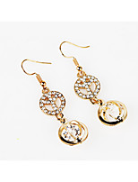 Drop Earrings Imitation Diamond Circular Unique Design Tag Fashion Personalized Hypoallergenic Classic Alloy Circle Star Jewelry For