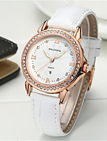 Women's Fashion Watch Japanese Quartz Calendar Water Resistant / Water Proof Leather Band Sparkle Black White Red Brown