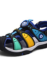 New Comming Boys' Sandals Comfort Microfibre Spring Summer Outdoor Athletic Casual Magic Tape Flat Heel Army Green Navy Blue Black Flat