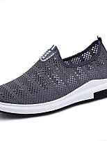 Для мужчин Мокасины и Свитер Удобная обувь Полиуретан Весна Осень Для прогулок На плоской подошве Черный Серый Синий На плоской подошве