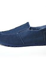 Homme Mocassins et Chaussons+D6148 Confort Tissu Automne Hiver Décontracté Marche Confort Talon Plat Gris Bleu Moins de 2,5 cm