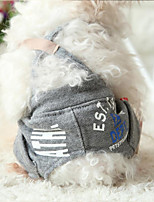 Dog Harness Dog Clothes Cute Fashion Casual/Daily British Blushing Pink Blue Red Gray