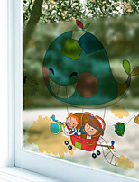 Window Film Window Decals Style Cartoon Travel Dull Polish PVC Window Film - (60 x 58)cm
