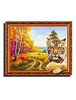 3D The Tiger Scenery Night Lights Wall Poster Adhered PVC  Decorative Skin Wall Stickers  for Bedroom