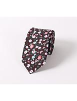 Floral tie Cotton printing fashion wedding skinny men leisure tie